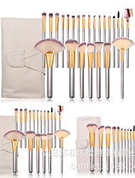 cheap -12/18/24/Off-white champagne gold makeup brush set eye brush beauty makeup tools cross-border hot sale