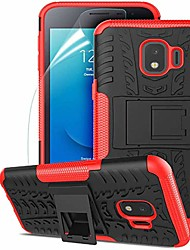 cheap -samsung galaxy j2 case,galaxy j2 core case/galaxy j2 dash/j2 pure/j2 shine/j260, dual layer shockproof,w hd screen protector,protective w kickstand hard pc & soft tpu case,tire appearance-red