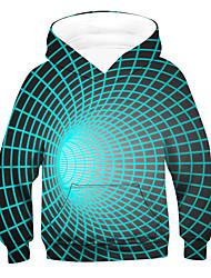 cheap -Kids Boys' Hoodie & Sweatshirt Long Sleeve 3D Light Blue Children Tops Active