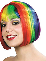 cheap -miss china pride wig, rainbow, one size