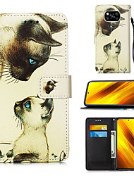 cheap -Case For Xiaomi Poco X3 NFC / Redmi K20 Pro / Redmi K20 / Mi 10 Lite 5G / Mi 10 Youth 5G Card Holder Flip Magnetic Full Body Cases Animal PU Leather