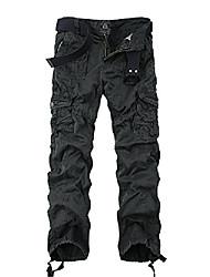 cheap -men's multi pockets military cargo pant #3380 purple 36
