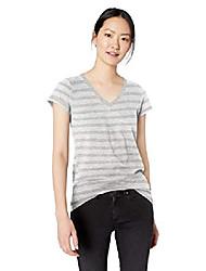 cheap -amazon brand - women& #39;s lived-in cotton slub short-sleeve v-neck t-shirt, navy, small