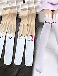 cheap -Kids Girls' Underwear & Socks White Blue Purple Cat Color Block