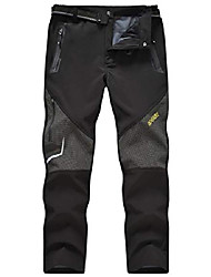 cheap -men's snow ski pants outdoor waterproof hiking mountain softshell pant (black,xl)