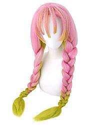 cheap -demon slayer kimetsu no yaiba kanroji mitsuri cosplay wig (pink)