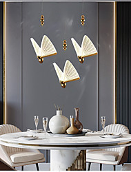 cheap -17 cm Single Design Pendant Light Butterfly Shape LED Nordic Style Gold Aesthetic Metal Electroplated 110-120V 220-240V