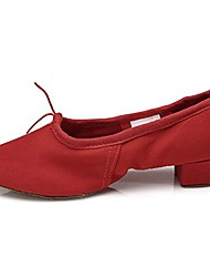 cheap -women& #39;s red canvas latin dance shoes ballroom performance shoes,model ct,7.5 b& #40;m& #41; us