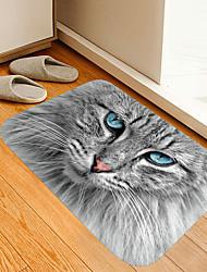 cheap -Cat With light Blue Pupils Digital Printing Floor Mat Modern Bath Mats Nonwoven Memory Foam Novelty Bathroom
