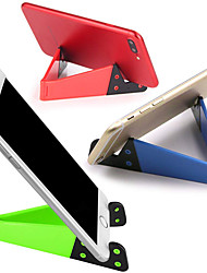 cheap -1Pcs Universal Desktop Stand Colorful Portable Foldable V model Mobile Phone Mount Holder Stand Cradle For Cell Phone