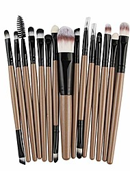 cheap -brush lip brush pro makeup cosmetic brush tools kit set powder eyeshadow eyeliner soft fiber bristles(15 pcs) soft brush (color : 1, size : one size)