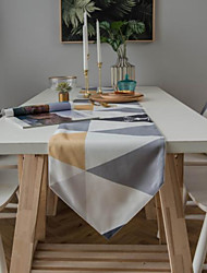 cheap -Printed Triangle Geometric Elk Table Runner With Pointed Corners