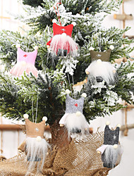 cheap -Double Ball Cap Faceless Doll Pendant Christmas Creative Small Doll Pendant Old Man Tree Pendant