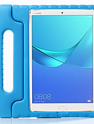 """cheap -Case For Huawei Huawei Mediapad T5 10 / Huawei MediaPad M5 10 / MediaPad M6 8.4"""" Shockproof / with Stand / Child Safe Back Cover Solid Colored Silica Gel"""