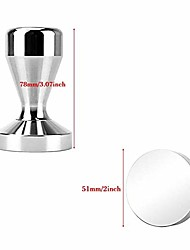 cheap -new aluminium alloy coffee tampering barista espresso machine manual powder hammer coffee grinder coffee tea set (color : aluminium alloy 51mm)