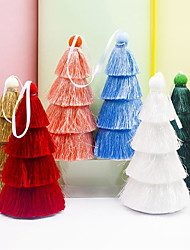 cheap -Fabric Multi-color Tassel Christmas Tree Pendant
