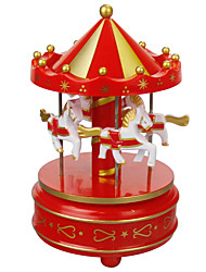 cheap -Music Box Horse Carousel Unique Wooden Women's Unisex Girls' Kid's Adults Kids Graduation Gifts Toy Gift