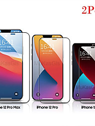 cheap -2PCS Screen Protector iPhone 12 Mini / 11 Pro Max / X / XS / XR / XS Max / 7 8 6S Plus  / SE 2020 High Definition (HD) Front Screen Protector Tempered Glass Second-Generation Enhanced Screen Printing