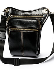 cheap -Men's Bags Leather Crossbody Bag Chain Bag Daily Black Coffee