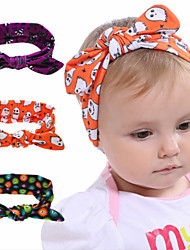 cheap -1pcs Toddler / Infant Girls' Active / Basic Jacquard Printing Spandex / Cotton Hair Accessories Black / Purple / Orange One-Size