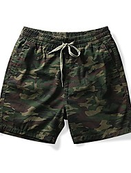 cheap -men's flat front active waistband pull-on shorts with 6 and 7 inch inseam army camo tag 4xl - us 40