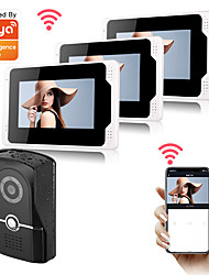 cheap -WIFI / Wired & Wireless Recording 7 inch Hands-free One to Three video doorphone