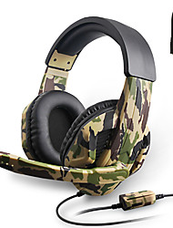 cheap -3.5mm Camouflage Game Headset Professional Gamer Stereo Head mounted Computer Headphone