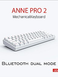 cheap -[Gateron Switch]Anne Pro 2 61 Keys Mechanical Gaming Keyboard 60% NKRO bluetooth 4.0 Type-C RGB Keyboard