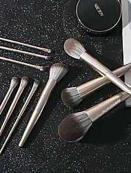 cheap -Golden brushed series of 10 Pcs makeup brush sets full set of imitation squirrel hair soft and skin-friendly