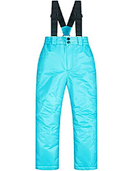 cheap -little boys girl kids children's outdoor mountain waterproof windproof ski snow snowboard bib pants suspenders (5-6 years/tag 8, light blue)