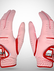 cheap -Golf Glove Golf Full Finger Gloves Women's Anti-Slip UV Sun Protection Breathable Microfiber Training Outdoor Competition Pink / Sweat wicking