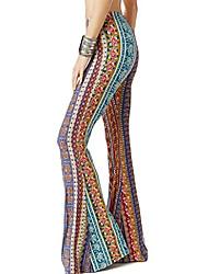 cheap -women's print stretch bell bottom flare palazzo pants trousers 1 xl