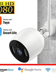 cheap -Tuya Smart Life  HD 2 mp IP Camera IP66 Waterproof Outdoor Two-way Speaking Audio Night Detection Support 128 GB