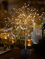 cheap -2pcs Starburst Lights LED Fireworks Dandelion Lamps Decoration Light for Valentine's Day Christmas Party Date Gift Waterproof wth 8 Modes Remote Control