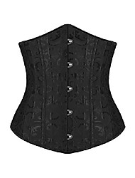 cheap -Corset Women's Plus Size Corsets Underbust Corset Classic Tummy Control Fashion Abstract Flower Hook & Eye Nylon Polyester / Cotton Christmas Halloween Wedding Party Birthday Party Fall Winter Spring