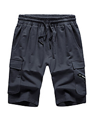 cheap -men's cargo sweat shorts elastic drawstring casual loose fit fleece (small, 1rd0002-sky blue)