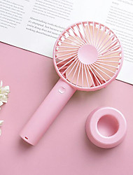 cheap -Mini Handheld Fan Portable Rechargeable Battery Operated Cooling Desktop with Base 3 Modes for Home Office Travel