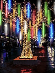 cheap -Waterproof Meteor Shower Rain 8 Tubes LED Light 30cm 11.8inch for Christmas Tree Decoration Outdoor Wedding Banquet Garden Holidays Decoration