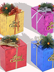 cheap -Christmas Toys Ornaments Christmas Gift Boxes Present Boxes Handmade Decoration Party Favors Paper 4 pcs Kid's Adults Christmas Party Favors Supplies