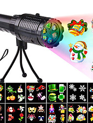 cheap -2 in 1 Moving Water Wave Halloween Christmas Projector Light 12 Patterns Double LED Garden Waterproof Projector Lamp Effect Lamp