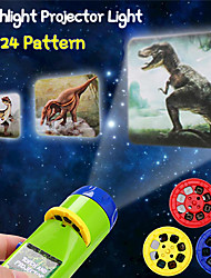 cheap -24 Patterns Projection Flashlight Children Projector Light Cute Cartoon Toy Night Photo Picture Light Bedtime Learning Fun Toys