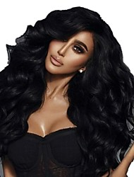 cheap -Clip In Hair Extensions Remy Human Hair 7pcs Pack Wavy Natural Hair Extensions