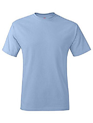 cheap -short sleeve t-shirt big sizes - 5170x, 3x-large, light blue