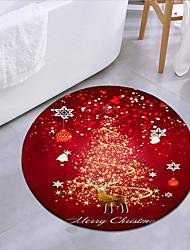 cheap -Christmas Door Mat Round Mat Carpet Door Mat Bedroom Living Room Carpet Study Room Carpet Kitchen Bathroom Anti-slip Mat