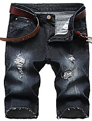 cheap -but& #39;s casual ripped denim shorts jeans distressed stretchy jeans shorts pants 09 black 32