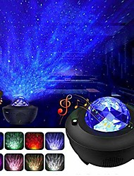 cheap -Night Light Projector  Galaxy Projector Starry Sky Projector Lamp with Remote Control 2 in 1 Star Projector with LED Nebula Cloud Moving Ocean Wave Projector for Kid Baby Built-in Music Speaker Voice