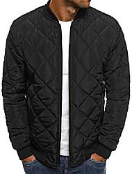 cheap -mens flight bomber diamond quilted jacket lightweight varsity jackets winter warm padded coats outwear