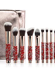 cheap -Meifei Lai new 10 diamond-studded makeup brushes rose gold makeup brush set diamond-studded beauty tools factory direct sales
