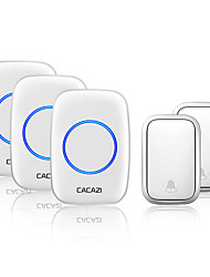 cheap -CACAZI Self-powered Wireless Doorbell Waterproof No Battery Chimes  Home Door 2 Button 3 Receiver