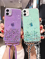 cheap -Case For Apple iPhone 12 / iPhone 12 Mini / iPhone 12 Pro Max Glitter Shine Back Cover sky TPU